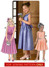 SEWING PATTERN! MAKE GIRLS PARTY DRESS! FLOWER GIRL~BRIDESMAID~1ST COMMUNION!