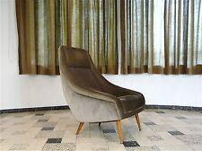 Mid Century EASY CHAIR high back Armchair Lounge Sessel VELVET Fauteuil | 1950s