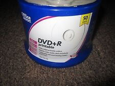 New Office DEPOT DVD+R Printable DVD 50 pack 16x 4.7gb 120min video,data, photos
