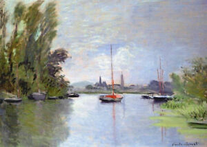 Diamond Painting Kit Argenteuil Seen from the Small Arm of the Seine Monet 1872