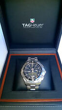 TAG Heuer Aquaracer Chronotimer Stainless Steel Black Dial Men's Watch CAF1010