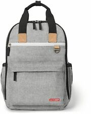 Skip Hop DUO BACKPACK - GREY MELANGE Baby Changing Bag Mummy Backpack BN