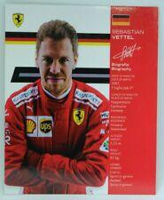New listing 2018 Sebastian Vettel Ferrari F1 Driver Card Formula 1 Autograph