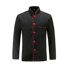 Unisex Chef Jacket Kitchen Work Cook Uniform Stylish Workwear Coat For Men Women