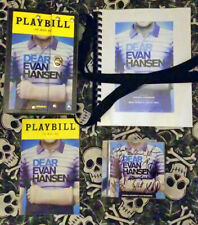 RARE DEAR EVAN HANSEN CD AUTOGRAPHED BY BROADWAY CAST + PROMO ITEMS