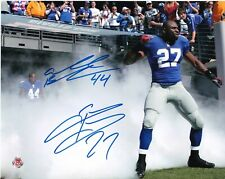 AHMAD BRADSHAW / BRANDON JACOBS  NEW YORK GIANTS   ACTION SIGNED 8x10