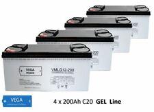 4 Stück 12V 200Ah Gel - Bleigel Batterie Akku- USV Boot Wohnmobil Caravan