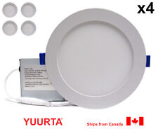 """YUURTA (4-pack) 6"""" 12W Dimmable Recessed Ceiling Slim LED Downlight (Pot Light)"""