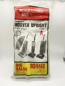 Hoover Carpet Care Type A FOR HOOVER UPRIGHT VACUUM Bags (9 Bags) 1988 Open Pkg