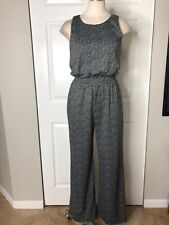 Vince Camuto Womens XS Black Houndstooth Sleeveless Jumpsuit JJ