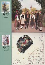 Aland Finland 1993 Maxi Card nr 10-11 - Folk Dresses - Cap Shawl