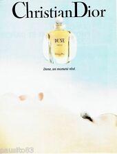 PUBLICITE ADVERTISING 126  1991   Dior  parfum femme Dune