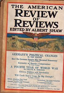 1917 Review of Reviews August-Kerensky of the Russian Revolution; China Politics