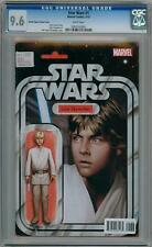 STAR WARS #1 CHRISTOPHER ACTION FIGURE VARIANT (2015) CGC 9.6 LUKE MARVEL COMICS