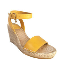 Tory Burch Women's Leather Wedges Espadrille, Size 7