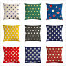 Round Dots Geometry Throw Pillow Cover Linen Pillowcases Sofa Seat Cushion Cover