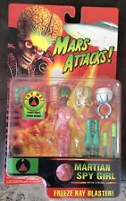 MARS ATTACK MARTIAN SPY GIRL WITH FIRING FREEZE RAY BLASTER MIP SHIPS FAST
