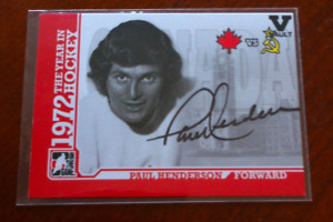 Team  Canada  1972  In The Game Vault Series Autograph Card