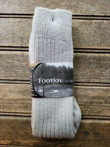 Vintage 90s FootJoy Crew Socks - Merino Wool Driftwood Shoe Size 7-12 NEW