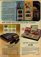 1978 ADVERTISEMENT Electronic Game Pro Basketball Football Space Alert Fairchild