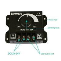 Manual Dimmer Knob Controller DC 12V-24V 30A For Single LED Strip Light Col C8P8