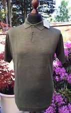 Mens - John Smedley - Pirro Silk - Polo Shirt - Green - Medium
