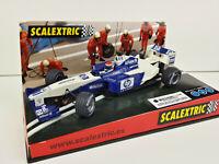 """Slot car SCX Scalextric 6108 Williams F1 BMW FW23 """"Gené 2002"""" - Allianz"""