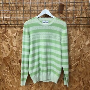 NEW £275 Stone Island Marina Knit crewneck jumper/sweater/pullover L LARGE ice