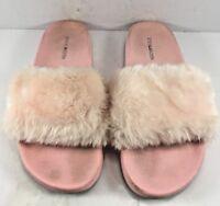 Steve Madden Pink Softey Flat Sandals Womens Size US 9M