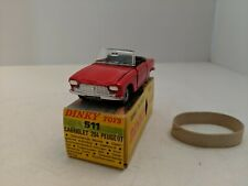 Dinky Toys 511 Peugeot 204 Cabriolet 1968-1971 Made in France, Very Rare Mint