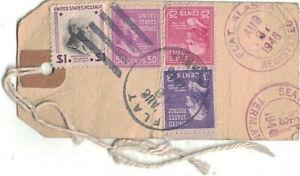 1946 Flat, Alaska Registered Gold Ore Shipment Tag to Assay Offiice, Seattle WA~