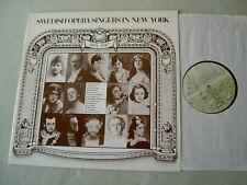 Swedish Opera Singers in New York: BJORLING/BERGLUND/FORSELL etc vinyl LP