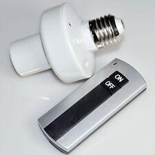 E27 220V Wireless Fernbedienung Light Lampen Bulb Halter Holder Schalter Socket