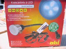 OUTSIDE/INSIDE, 12v BLUE LED light kits, 4 lights + transformer,10.5m cable