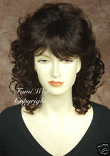 Classy Curly Wig In Dark Brown Wig / 100% Japanese Fibre Brilliant Quality