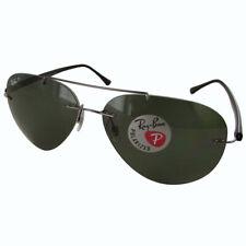 Para hombre aviador de Ray Ban RB8058 Gafas de sol polarizadas, GRIS PLOMO-Negro/Verde Clásico