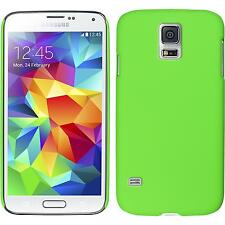 Coque Rigide Samsung Galaxy S5 mini - gommée vert + films de protection
