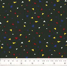 Cotton Fabric FQ. Triangle Confetti Geometric Bunting Patchwork Quilt Craft VS19