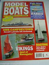 MODEL BOATS NOVEMBER 1995 BARBIE PLAN HMS CAMPBELTOWN RAGTIME CHRIS DICKS METRIC
