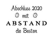 """Schablone """" Abschluss 2020.. """" auf A4"""