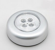 Cordless 4-LED Under Cabinet Push Tap Touch Stick On Night Light Lamps Battery