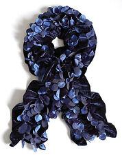 echarpe fantaisie femme velours bleu confettis 364c2fac01c