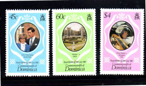 DOMINICA #701-703  1981  ROYAL  WEDDING  MINT  VF NH  O.G  a
