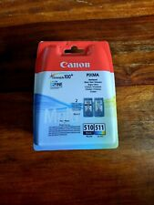Genuine Canon PG510 Black & CL511 Colour Ink Cartridges * New & Sealed *