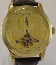 Raoul u. marrón reloj hombre 21 Jewels Automatik-reloj dorado
