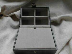 STACKERS MINK GREY FOUR COMPARTMENT + LARGER LIDDED ~ EXCELLENT ~ JEWELLERY BOX
