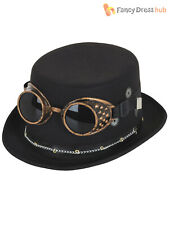 Adults Steampunk Top Hat Mens Ladies Halloween Fancy Dress Costume Accessory