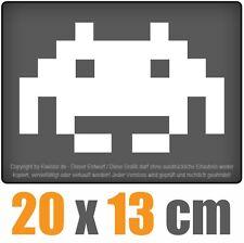 Space Invaders 20 x 1,7 cm JDM Decal Sticker Aufkleber Scheibe Auto Car Weiß