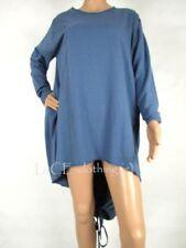 Vestiti da donna a manica lunga da ballo blu