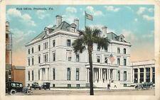 Pensacola Florida~Post Office~1920s Postcard